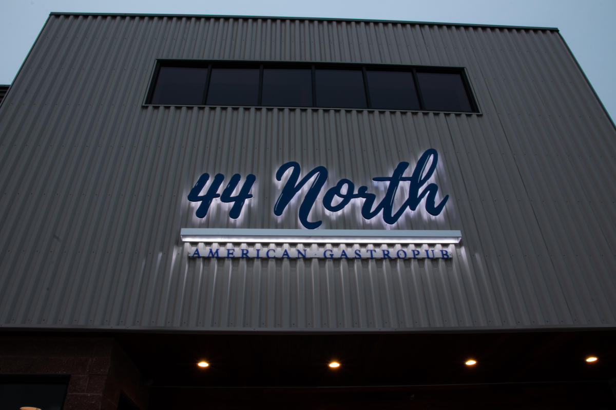 44 North sign outside of restaurant