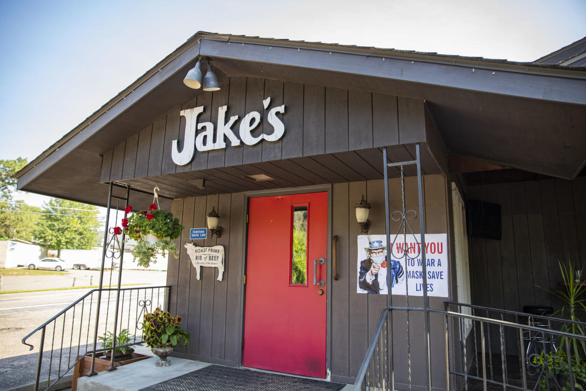 Exterior of Jake's Supper Club in Menomonie, WI