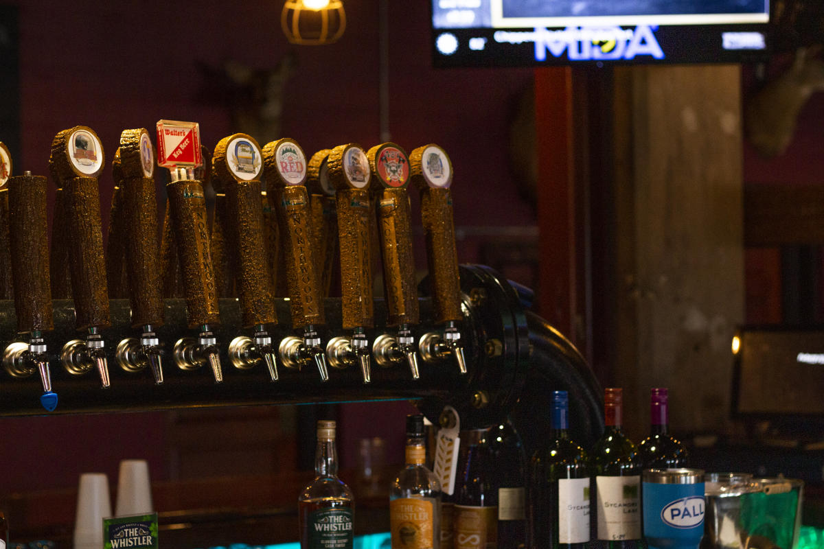 The tap at Northwoods Brew Pub in Osseo