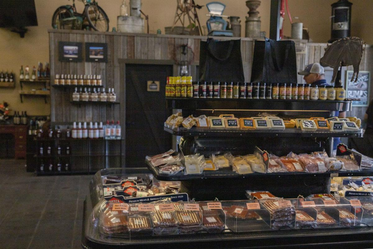 Cheese and meat at Rump's Butcher Shoppe