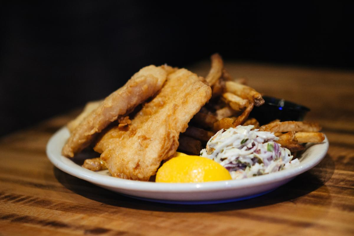Fish fry served at the Livery in downtown Eau Claire