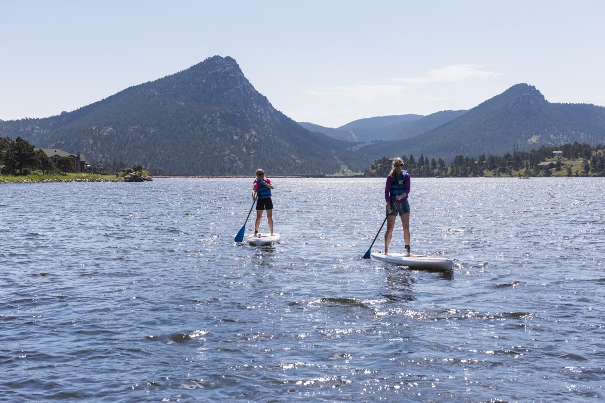 Stand Up Paddle Boarding Lake Estes