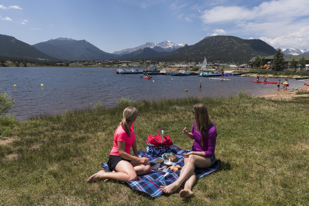 A Picnic on the Shore of Lake Estes