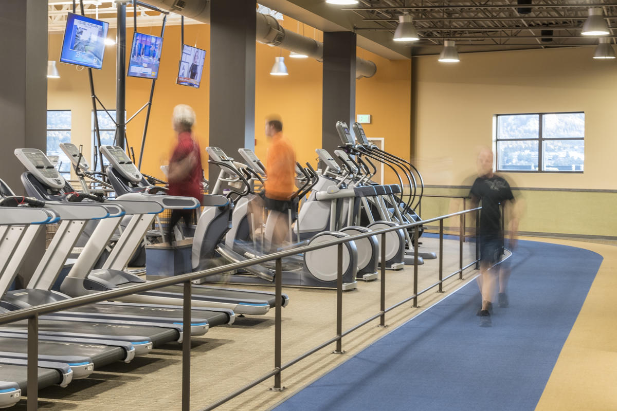Walking Track and Treadmills at the Estes Valley Community Center