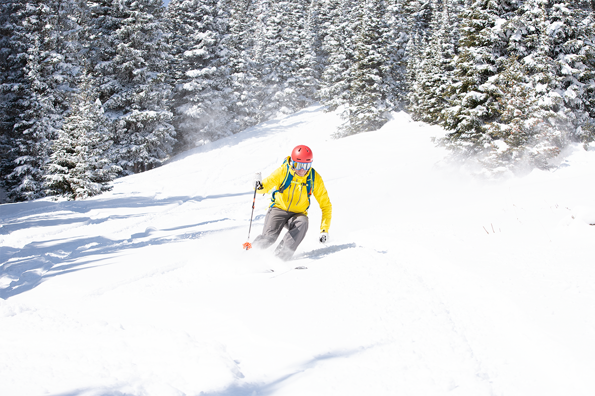 Backcountry skiing in Hidden Valley, Rocky Mountain National Park