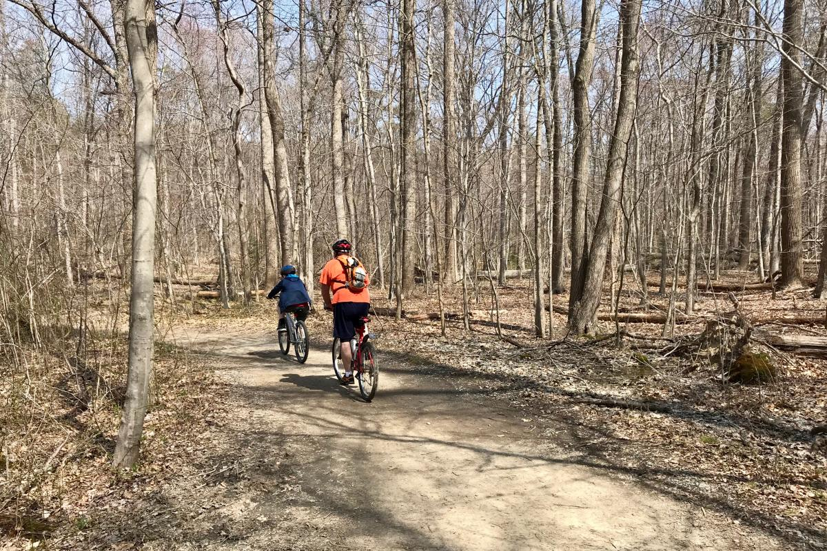 Burke Lake Park bike trail, by Julie McCool