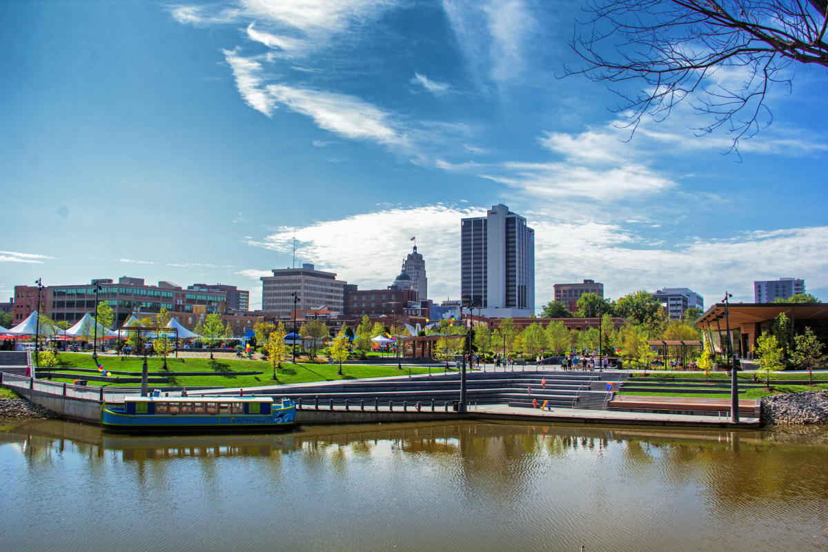 The Fort Wayne skyline from Promenade Park
