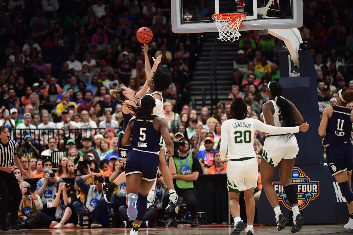 2019 Division I Women's Basketball game between Notre Dame and Baylor.
