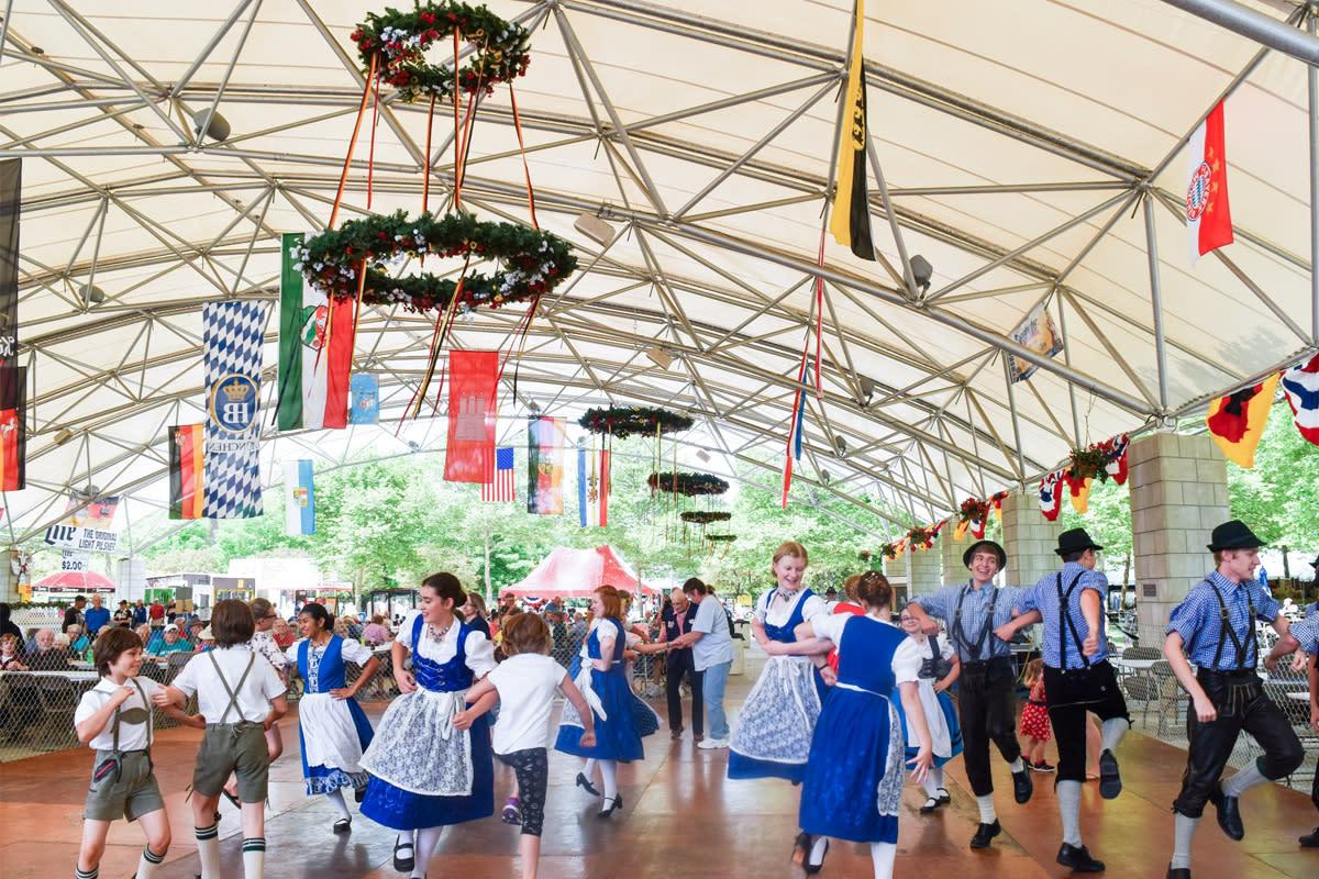 Germanfest Dancers at Headwaters Park in Fort Wayne