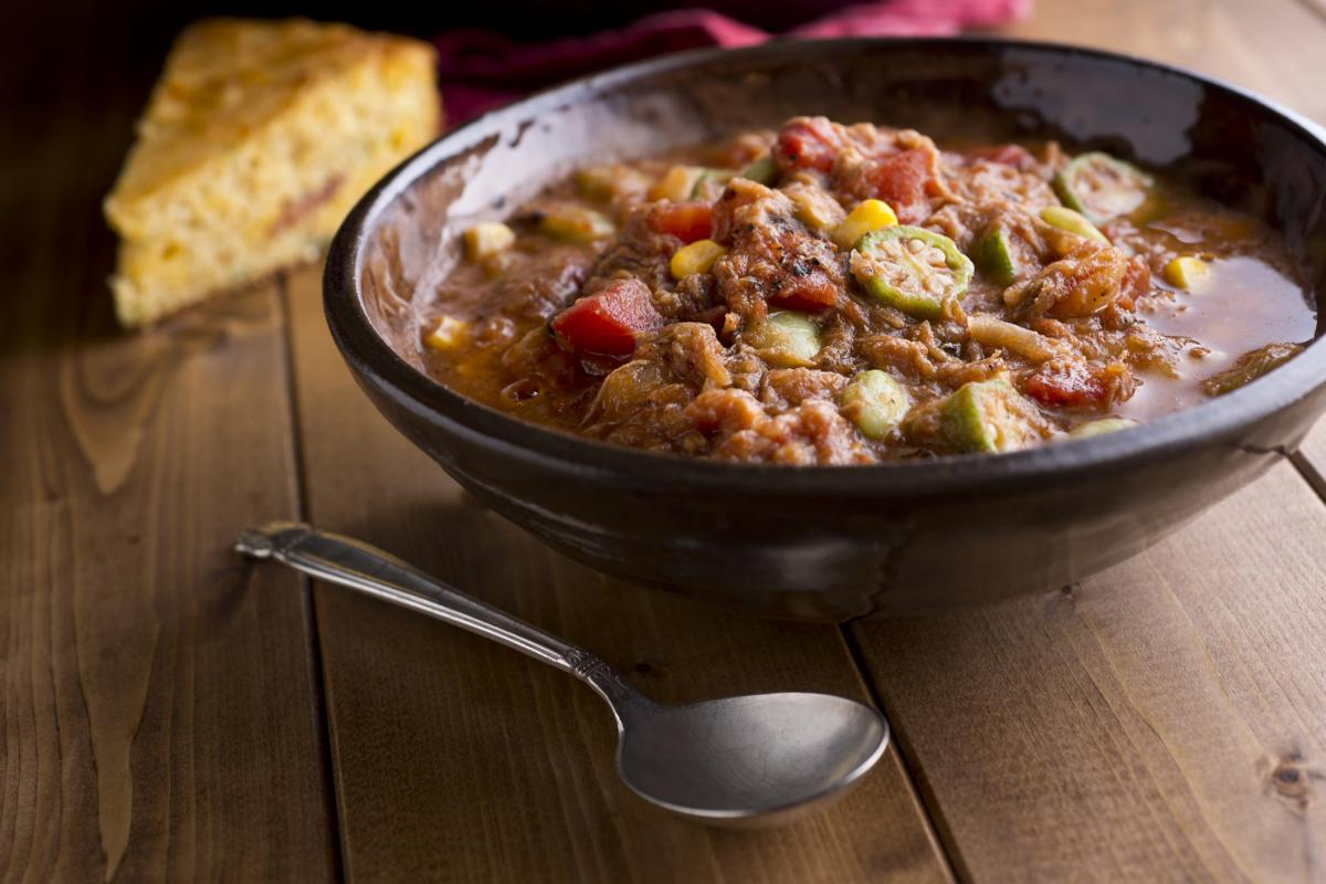 A hearty mixture of stewed meat and vegetables, Brunswick Stew is a staple dish in the Golden Isles