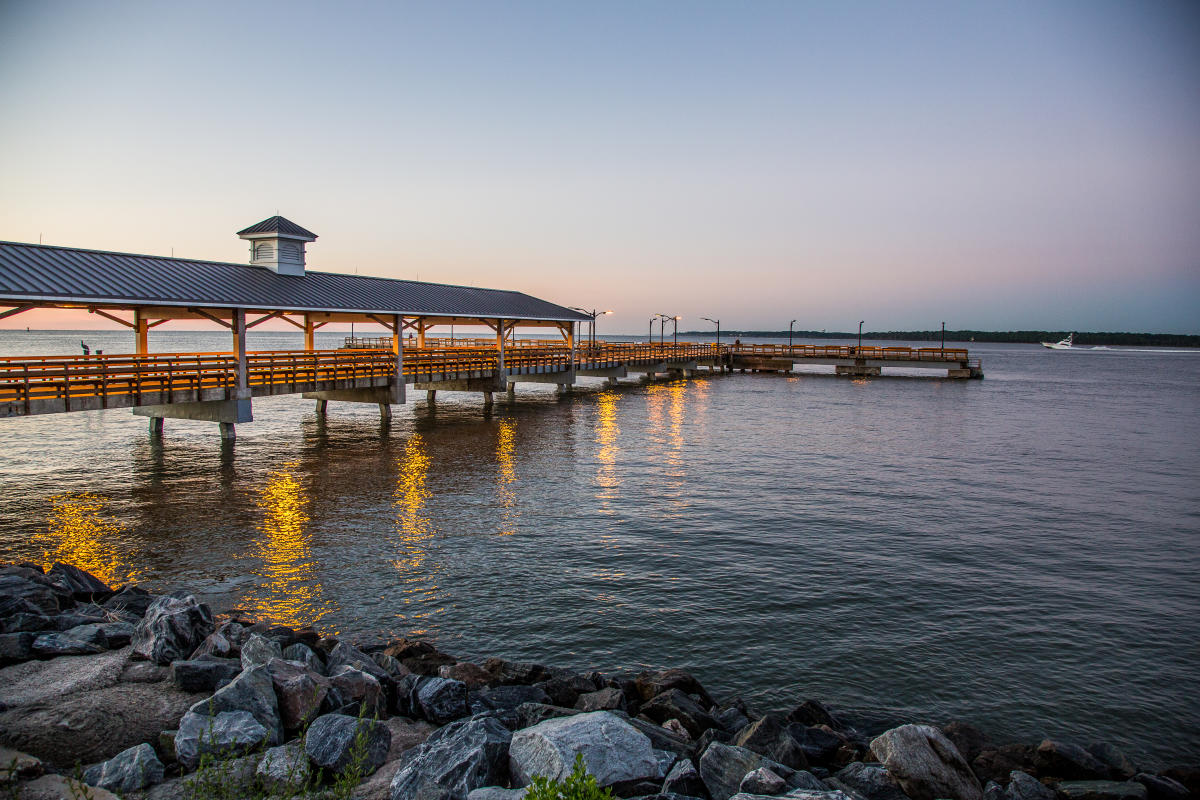 The St. Simons Island Pier overlooks the St. Simons Sound