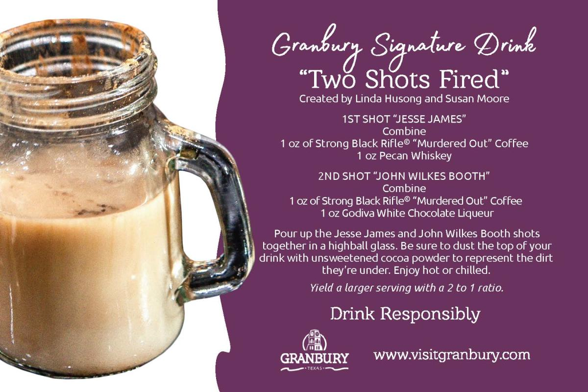 Two Shots Fired Recipe Card