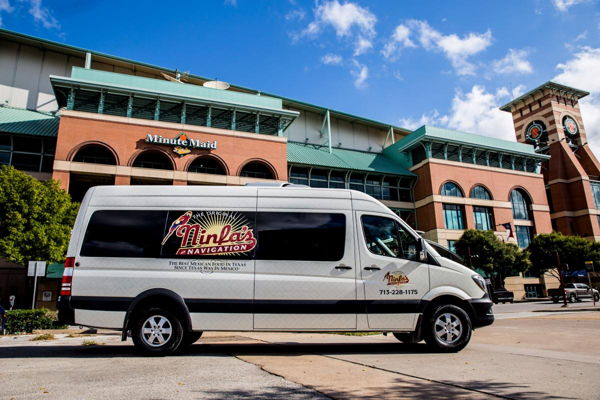 Ninfa's Truck infront of Minute Maid Park