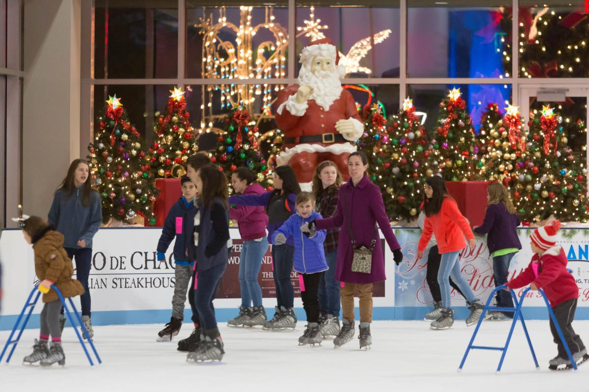 Skaters enjoy The Woodlands Ice Rink
