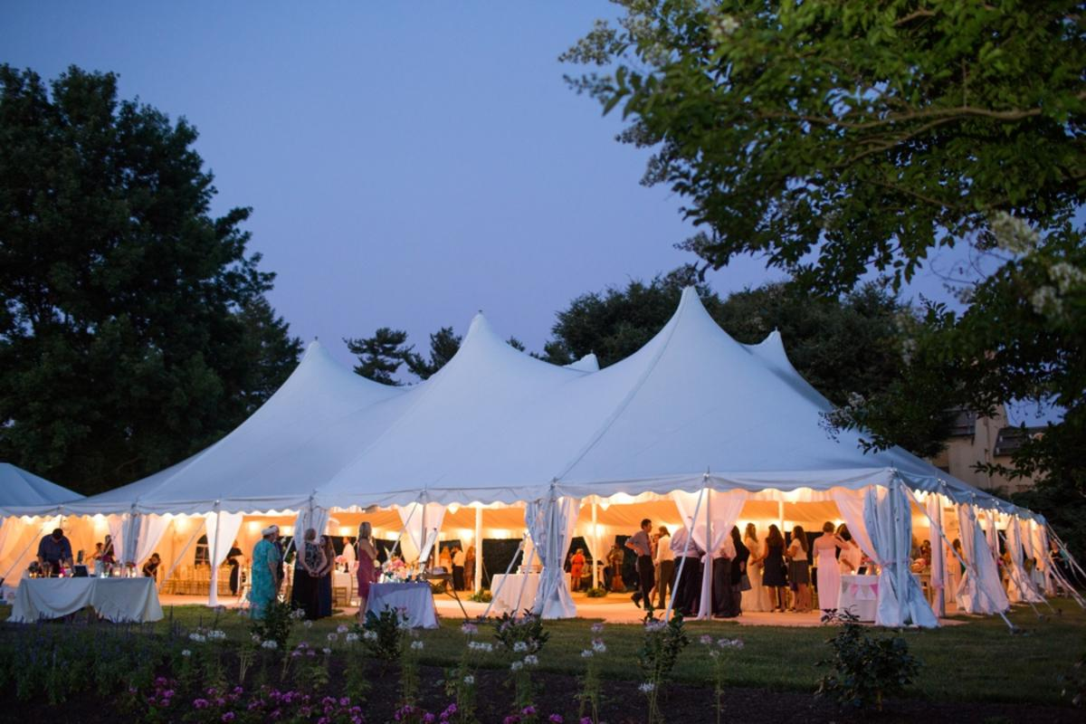 Belmont Manor Wedding Under a Tent at Night