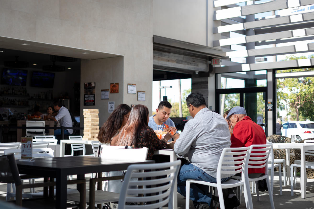 The Trade Food Hall in Irvine is a perfect place for a family lunch date!