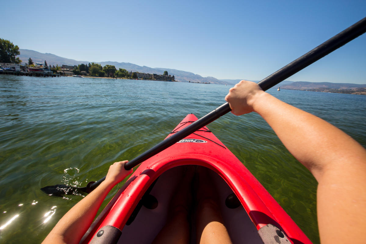 Kayak on Okanagan Lake