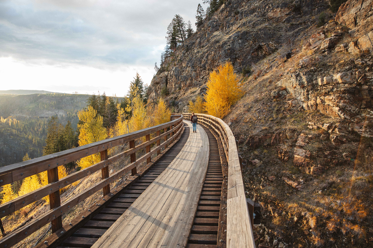 Myra Canyon Trestles in the Fall