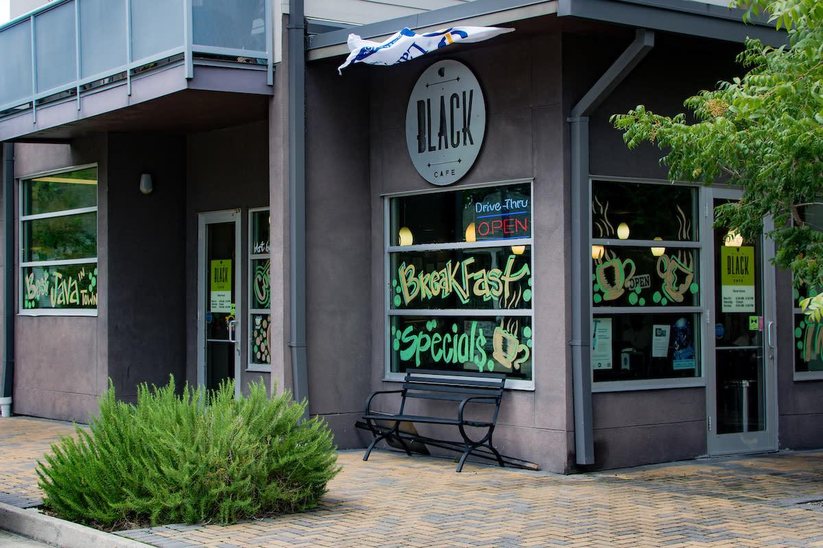 Black Cafe Exterior