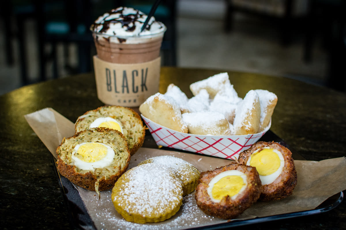 Black Cafe Scotch Egg