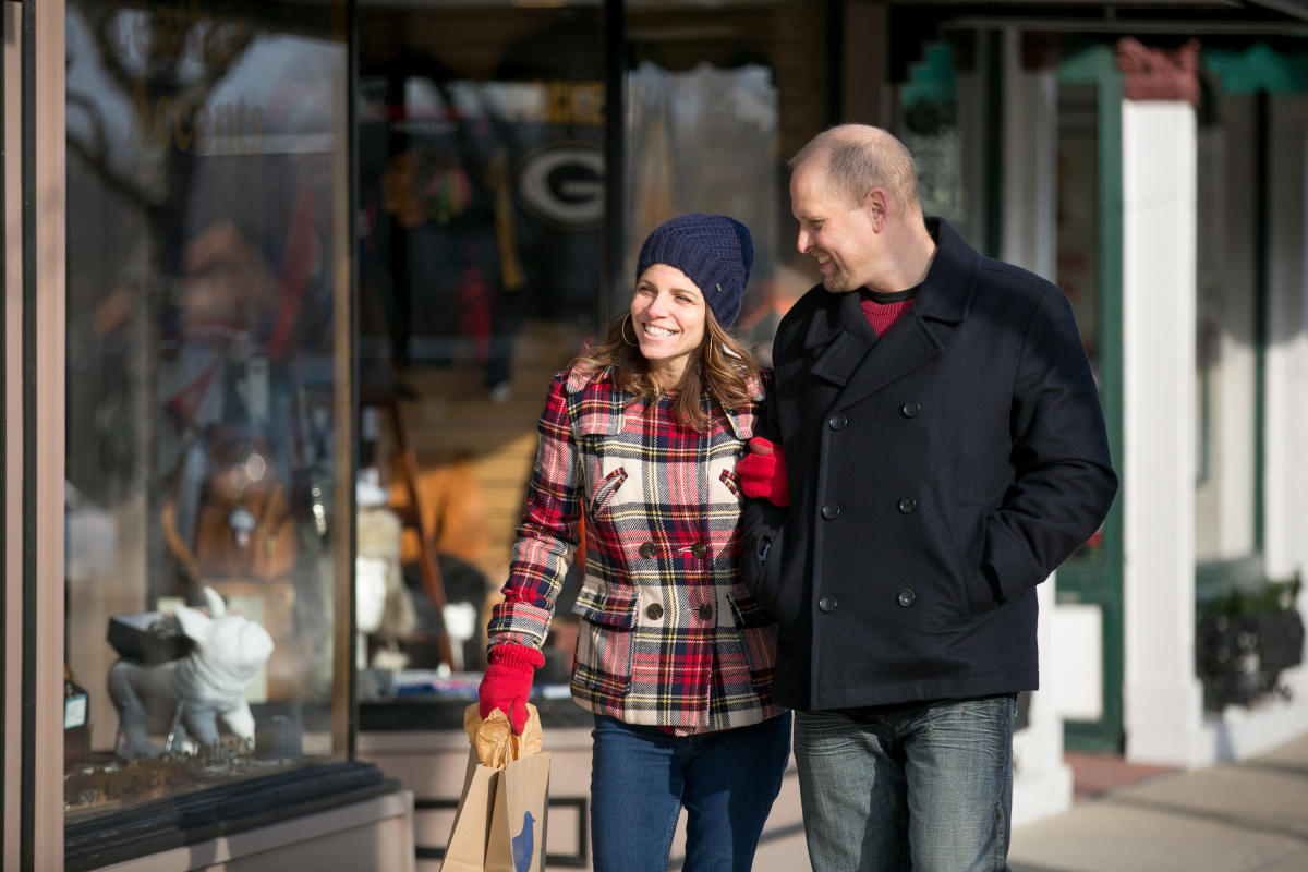 Winter Shopping Couple