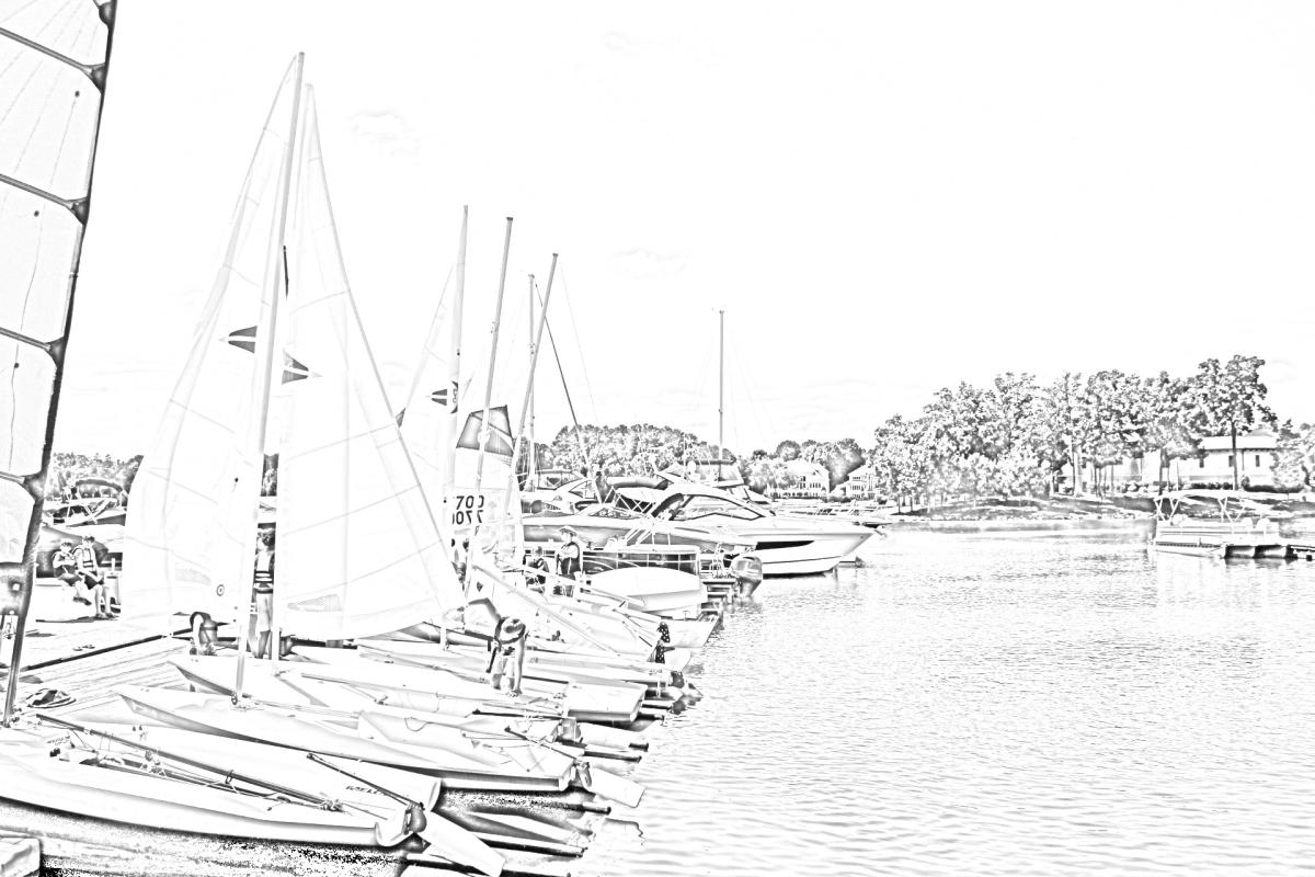 Sailboats Coloring Page
