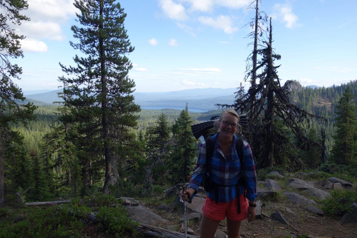 Julia on PCT above Willamette Pass by Julia Frantz