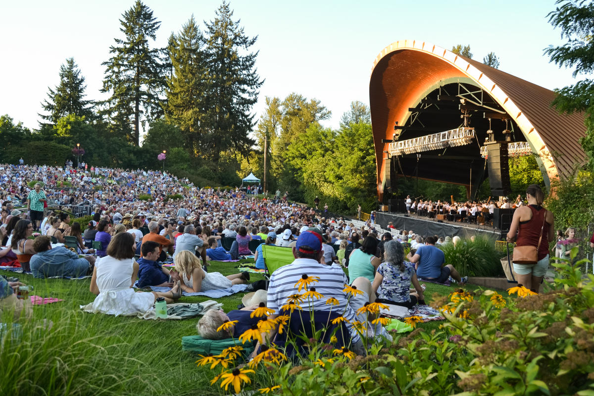 A summer evening at Cuthbert Amphitheater