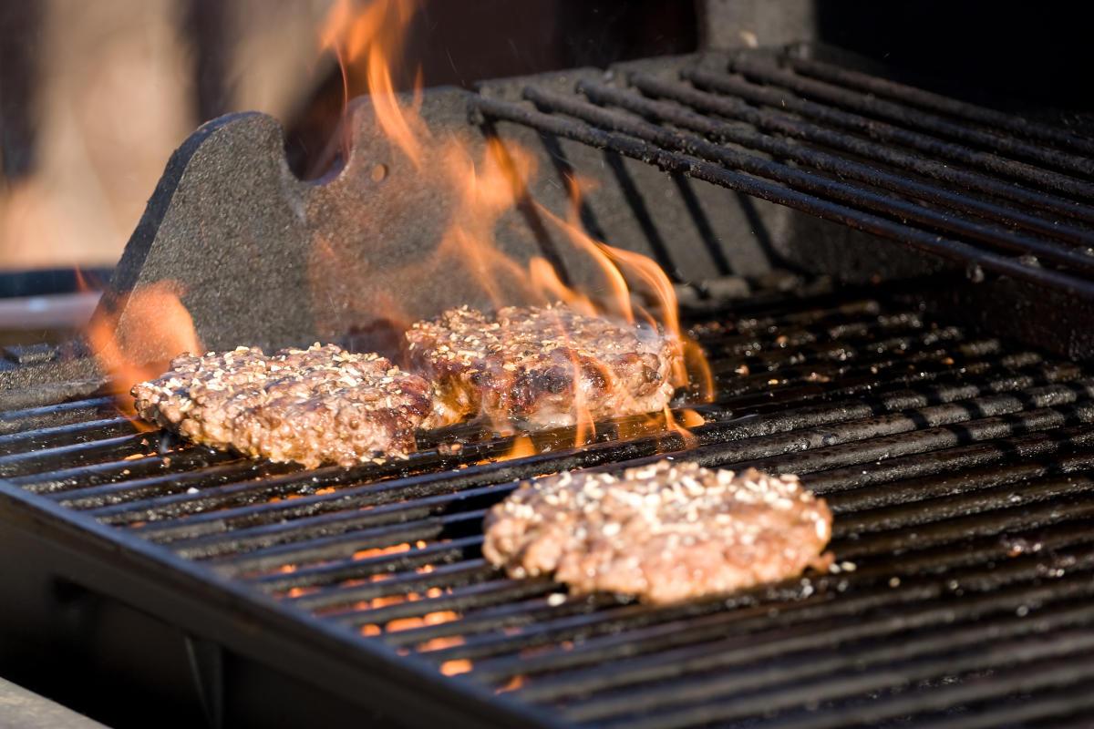 BBQ Grilling Hamburgers