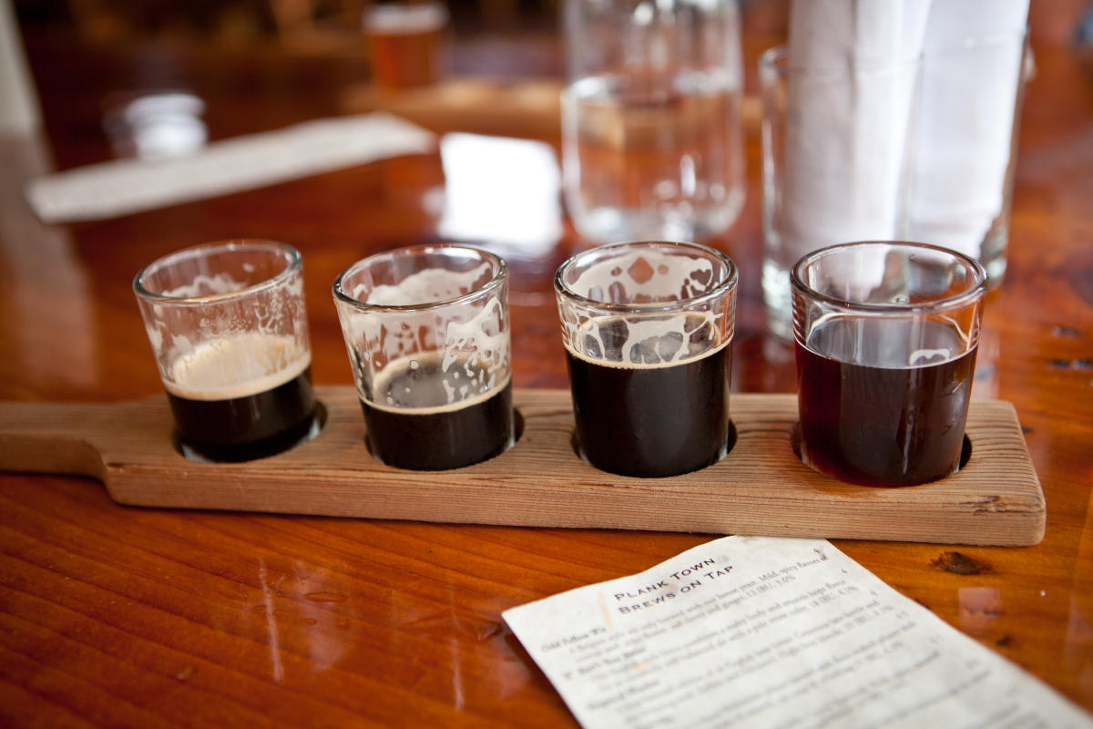 Flight of Beer at Plank Town Brewing Company by Maria Peters