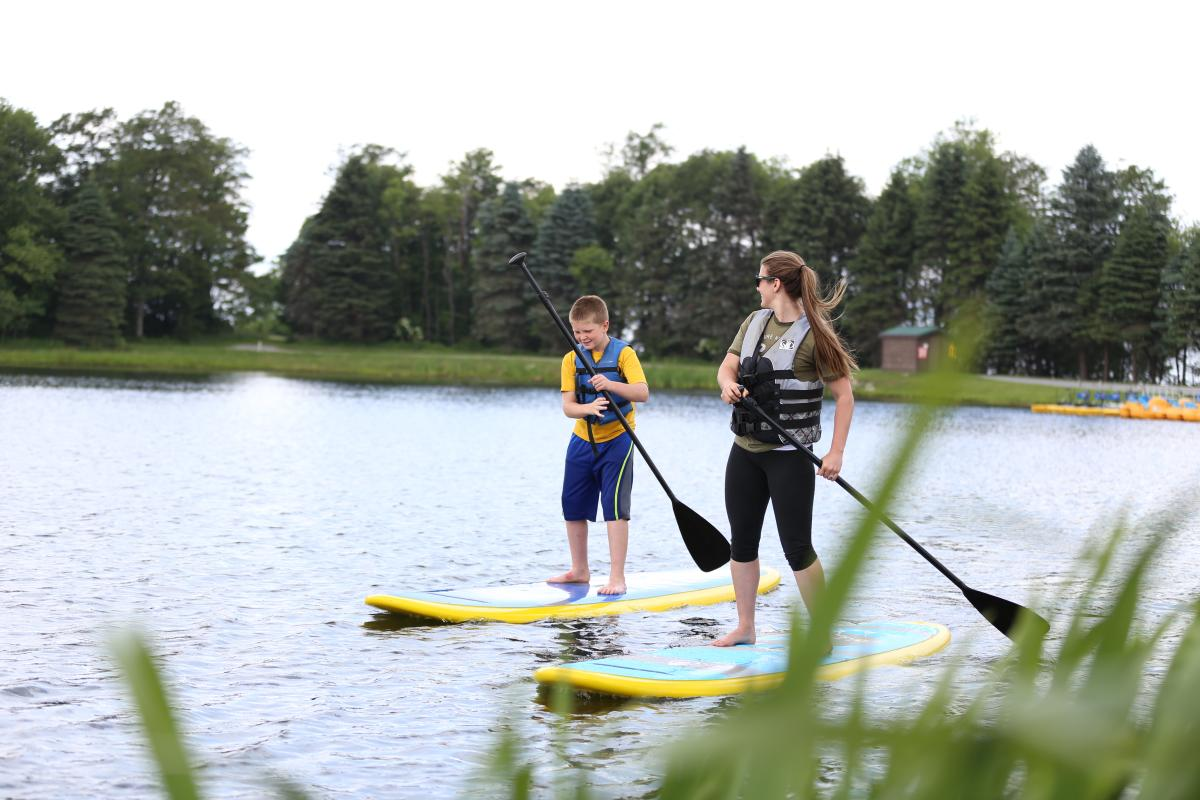 Stand Up Paddleboarding at Seven Springs