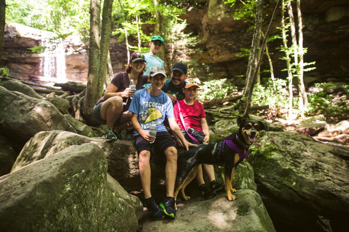 Hiking Cucumber Falls Ohiopyle