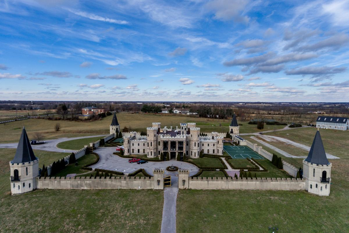 Aerial of The Kentucky Castle