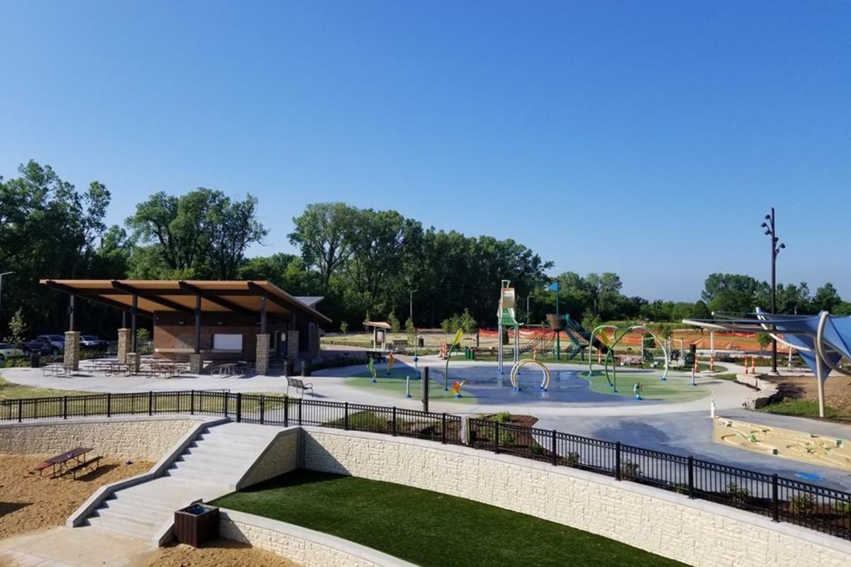 Splash pad at Firemen's Park