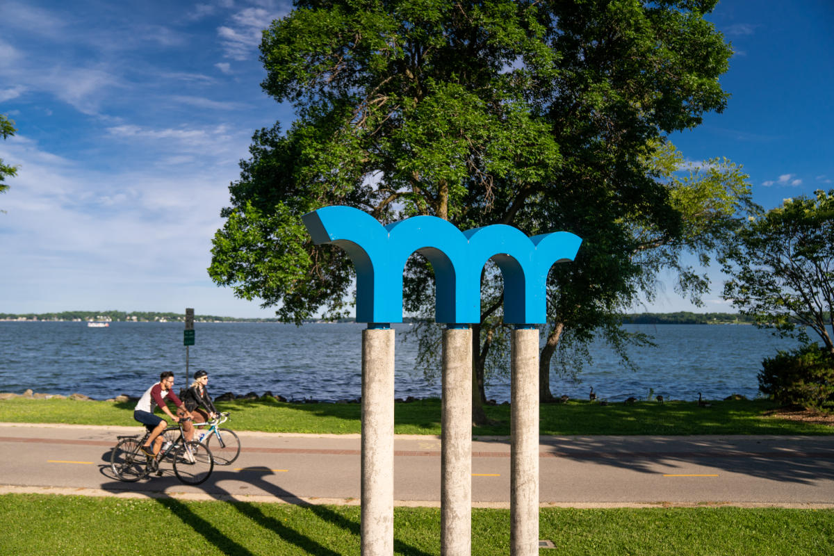 A view of Lake Monona and the bike path