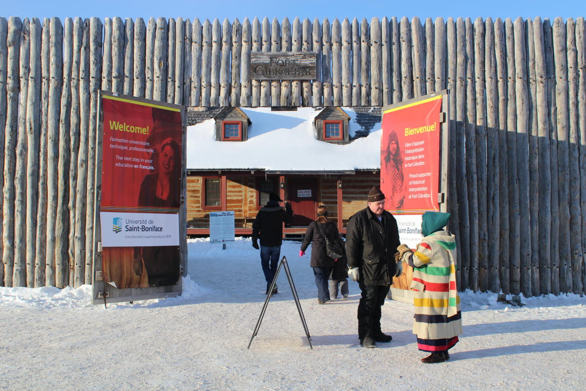 Entrance to Festival du Voyageur 2019 at Fort Gibraltar