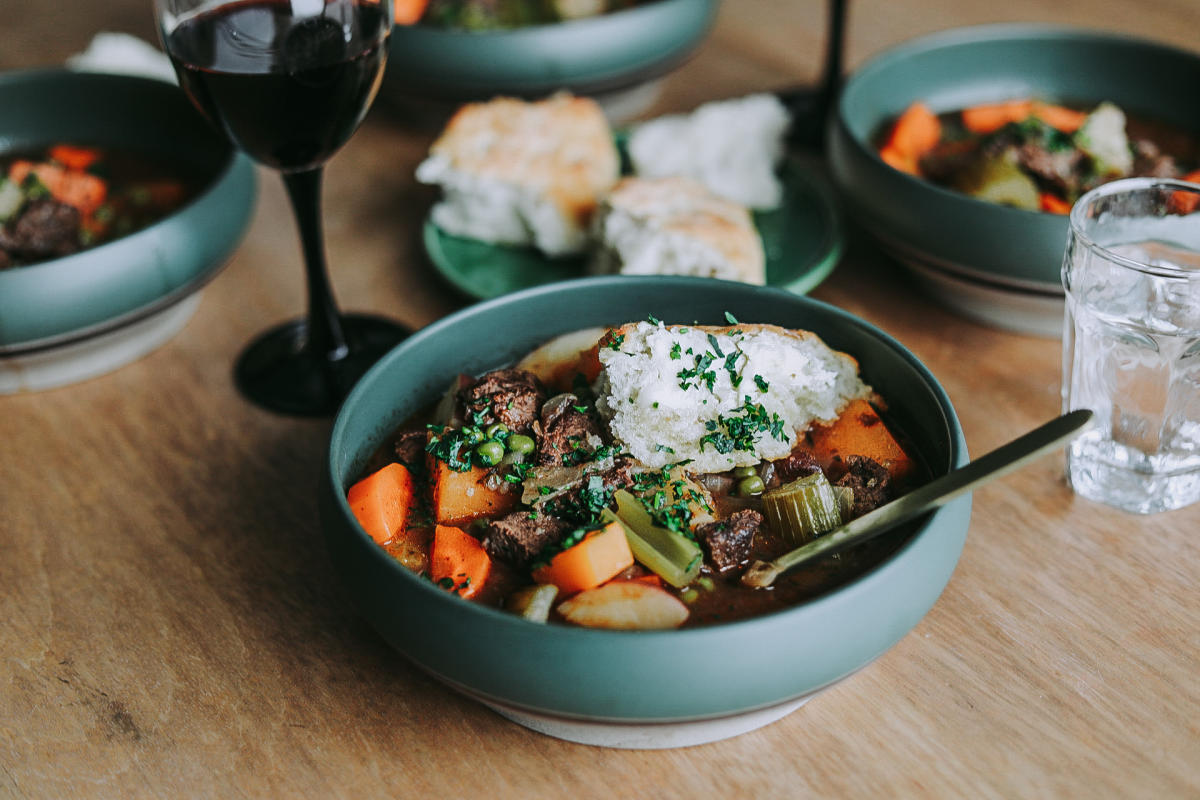 Hearty Moose Stew with Winter Root Vegetables