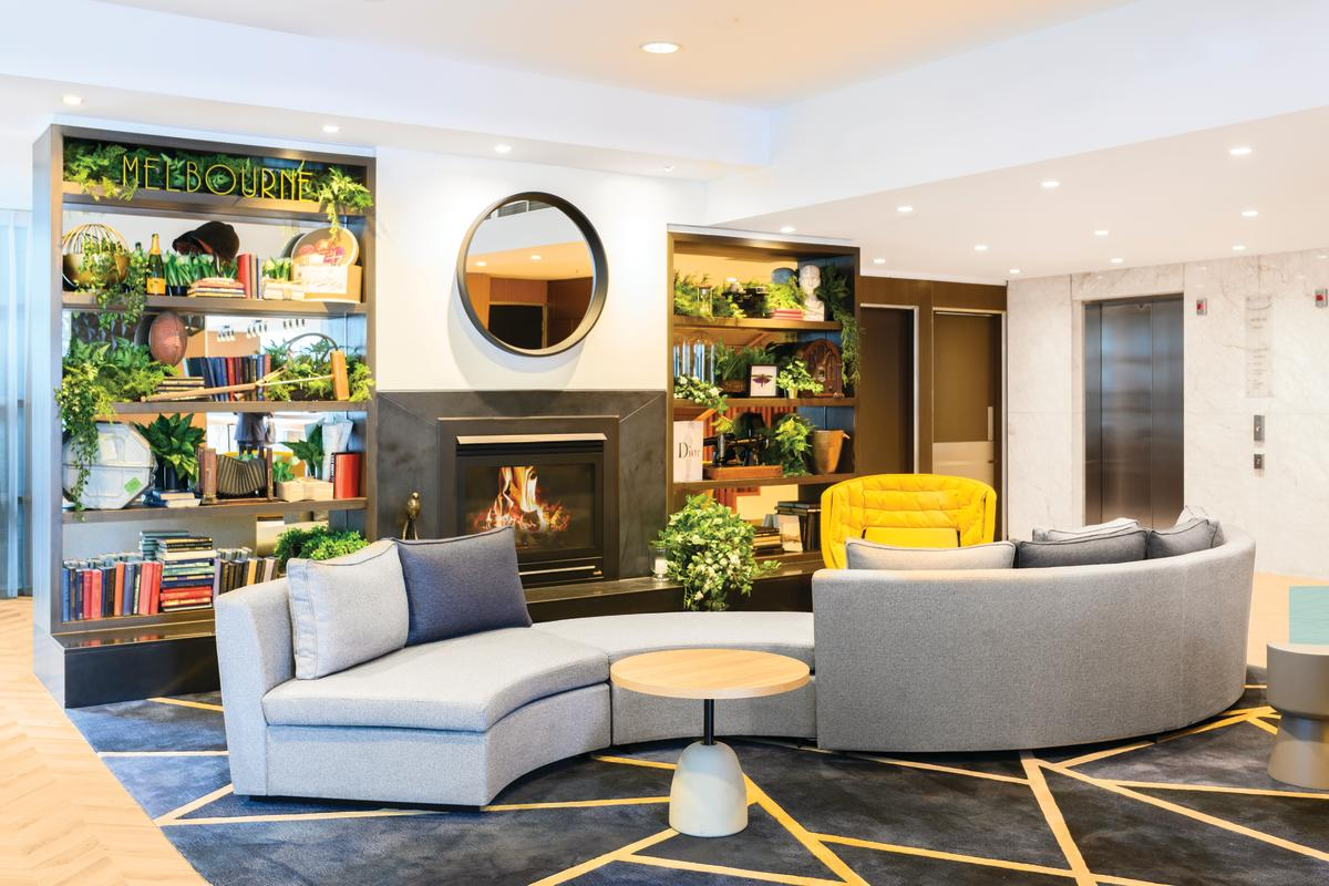 Adina Apartment Hotel Melbourne Northbank's striking refurbishment.