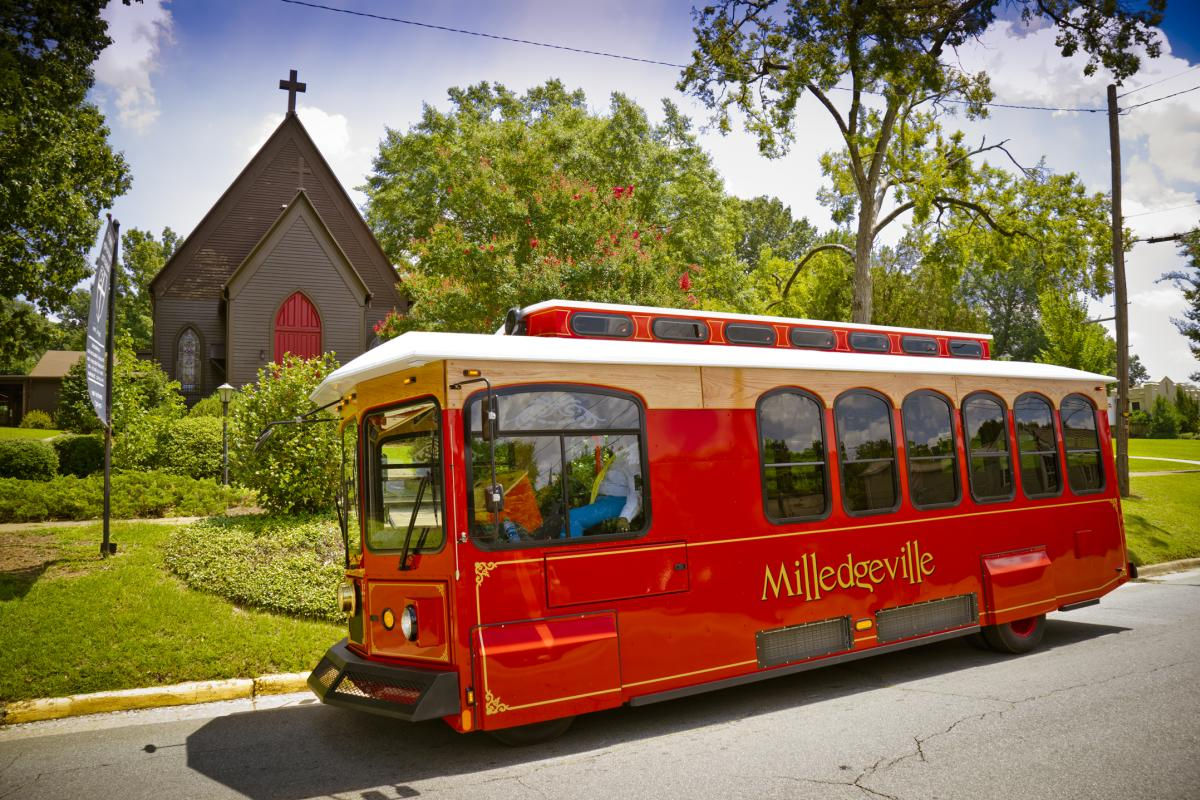 Trolley at St Stephens Episcopal Church