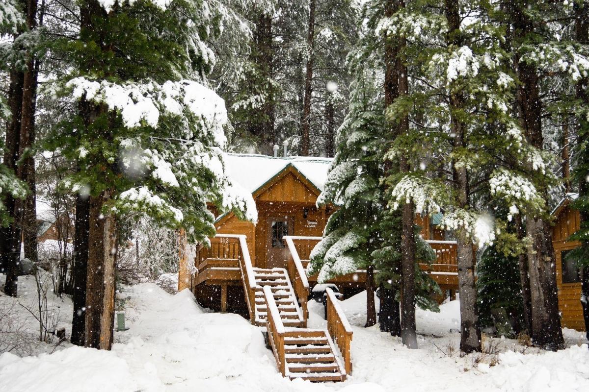 Double Eagle winter cabin