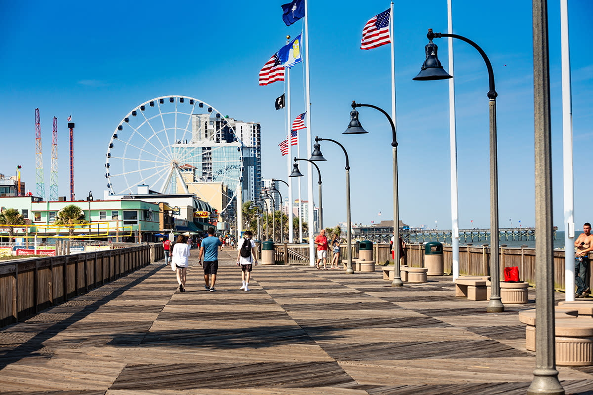 Myrtle Beach Boardwalk and Promenade with Skywheel, Myrtle Beach, SC
