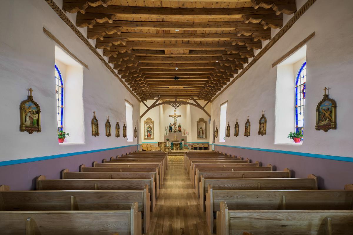 The sanctuary of San Miguel de Socorro Mission, New Mexico Magazine