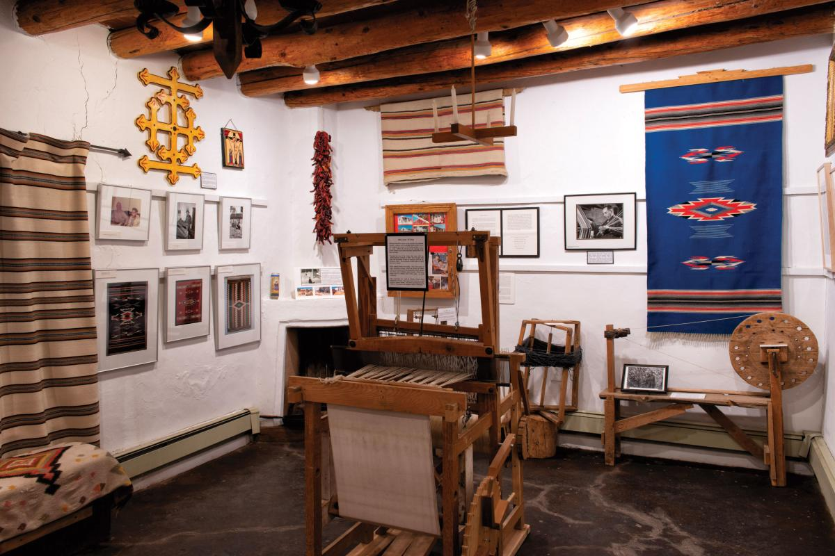 Exhibits inside the Chimayó Museum pay homage to the region's weaving tradition and to it's families.