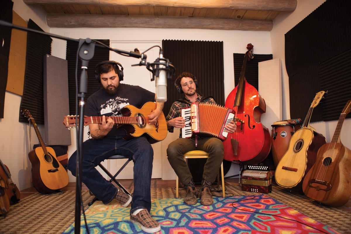 At FW Studios, in Santa Fe, Martinez and Wax record the latest album.