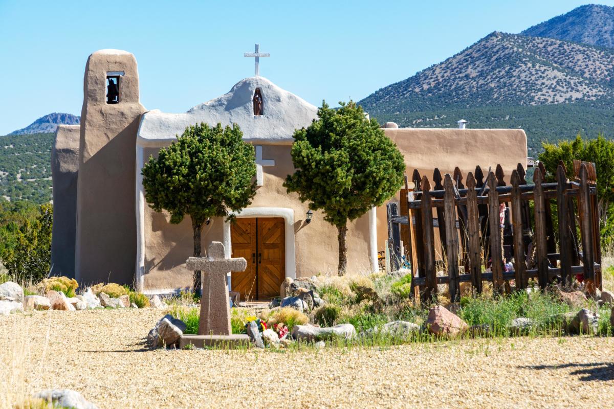 San Francisco de Asís Church, in Golden, New Mexico Magazine