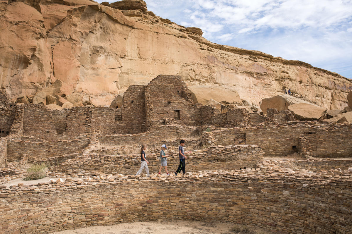 Kids at Chaco Canyon.