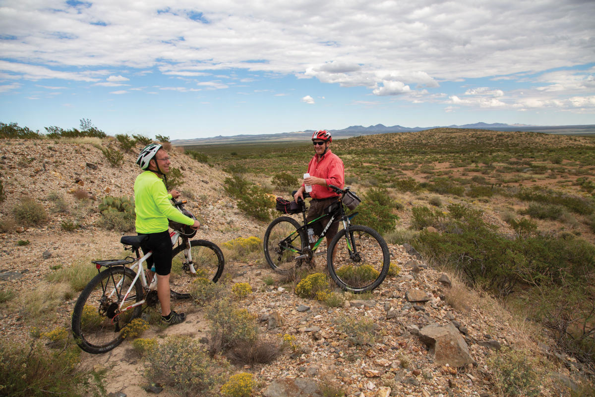 Jeff Cullum and Jeffery Sharp go on a ride on the Continental Divide Trail, near Hachita