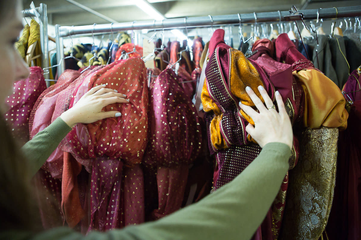 Costumes being used the in the next performance at the Santa Fe Opera.