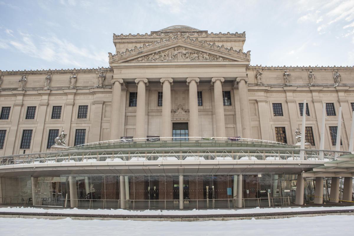 brooklyn museum, winter