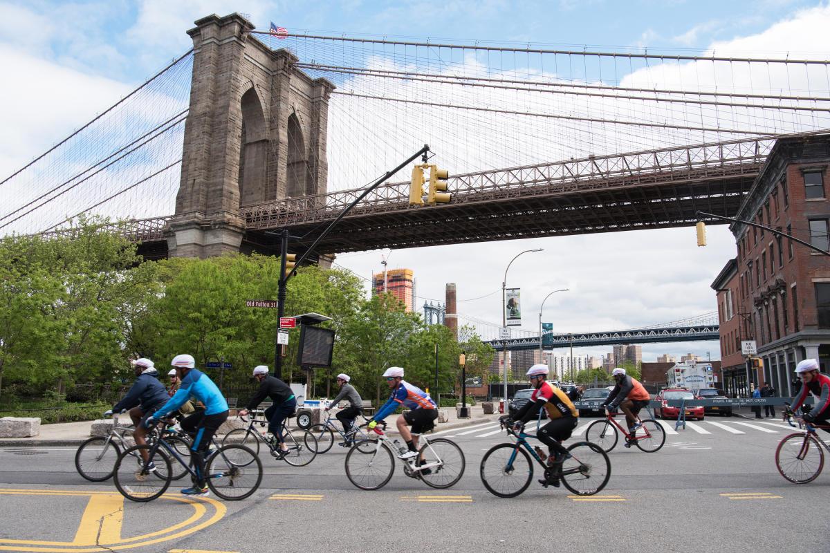 td bike tour, brooklyn, five borough bike tour